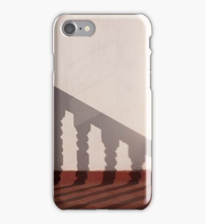 Shadows on the hotel balcony iPhone Case/Skin