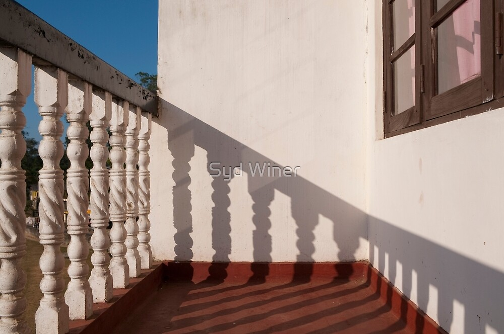 Shadows on the hotel balcony by Syd Winer