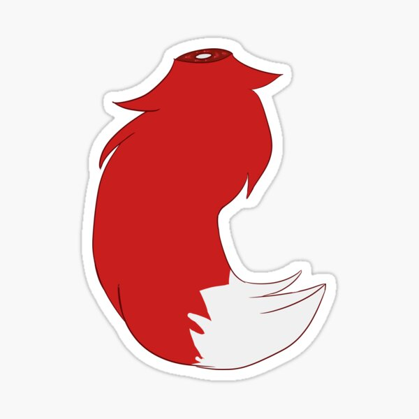 Red Tail Sticker Sticker