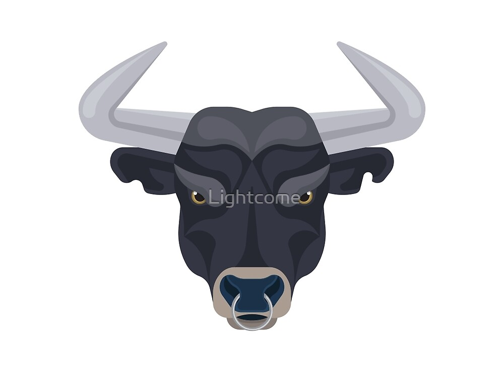 Graphic angry bull by Lightcome