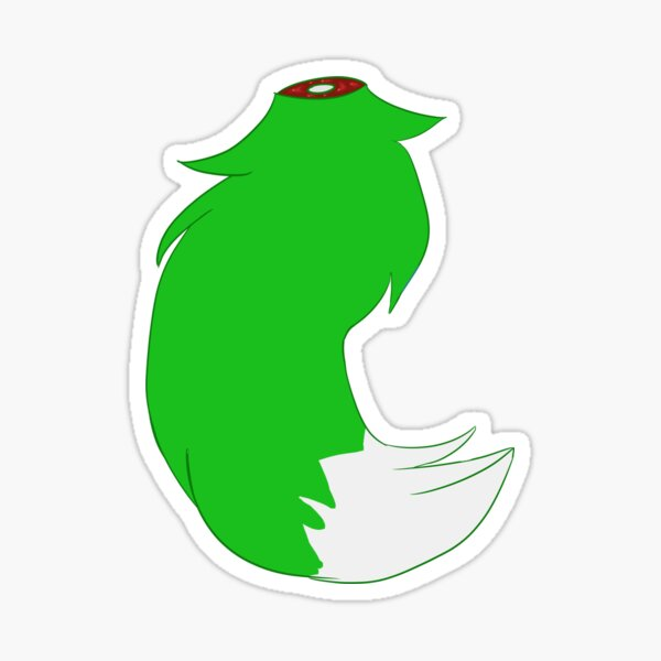 Green Tail sticker Sticker