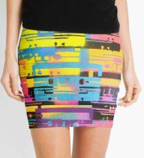 Rainbow Mixed Tape  Mini Skirt