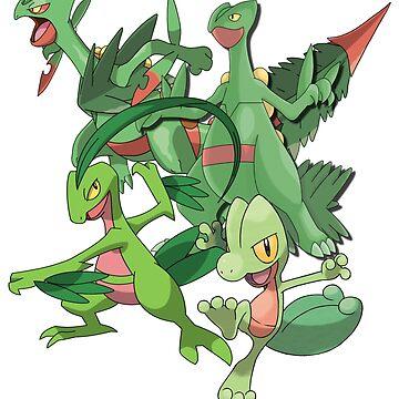 treecko's family by xoen