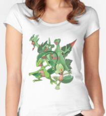 treecko's family Women's Fitted Scoop T-Shirt