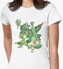 treecko's family Women's Fitted T-Shirt