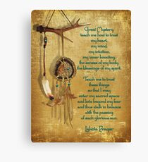 Lakota Gebet Dream Catcher Leinwanddruck