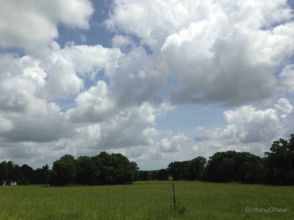 Clouds over Field by BrittanyONeal