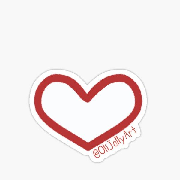 OliJollyArt Heart Sticker