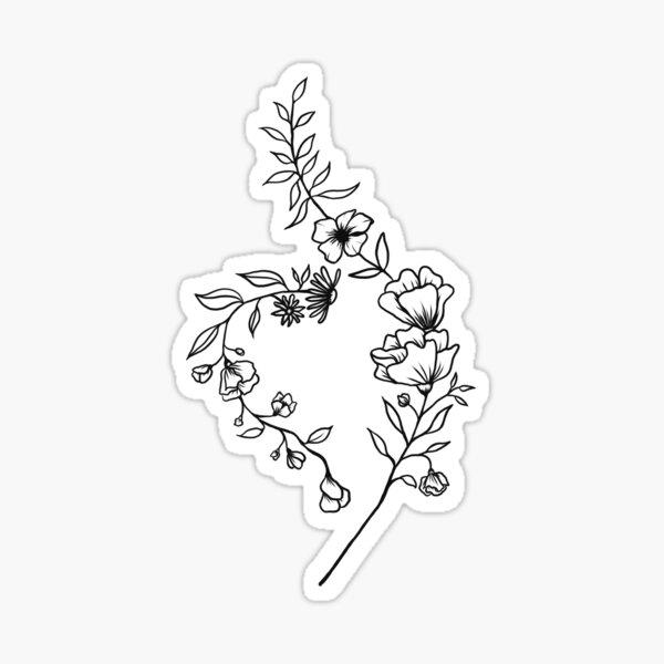 NEDA Symbol Flower  Sticker