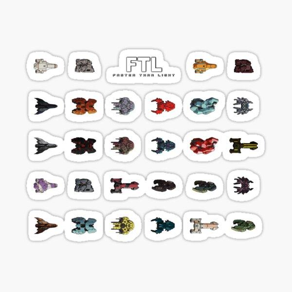 FTL Faster Than Light - All Ships Sticker