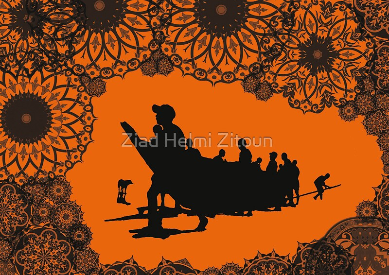 Video Karavaan Sunset - Ziad Zitoun - 40x30cm - 2010 by Ziad Helmi Zitoun