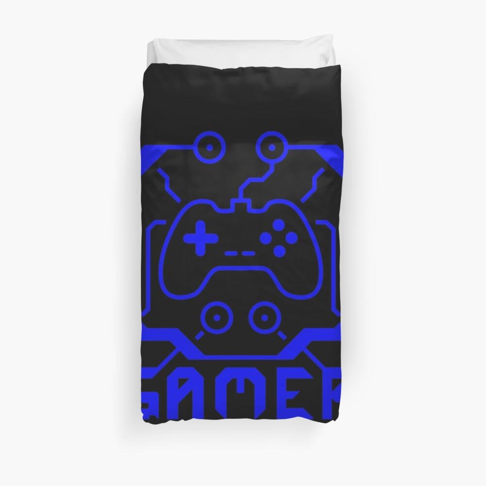 Blauer Circuit-Spieler Bettbezug