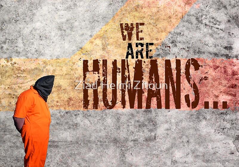 Guantanamo and Dignity - Ziad Zitoun- 40x30cm - 2010 by Ziad Helmi Zitoun