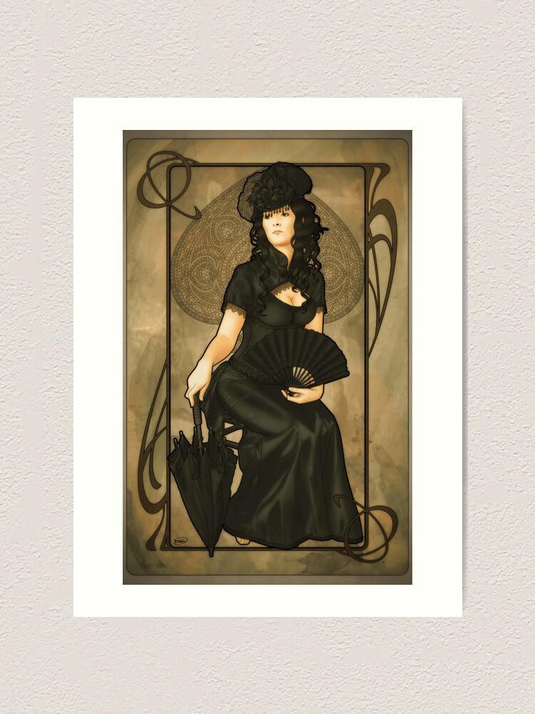 framed metal wall art.htm poker art nouveau  queen of spades   art print by artnouveau  poker art nouveau  queen of spades