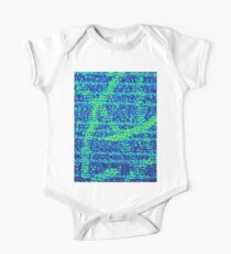 Abstract Blue One Piece - Short Sleeve