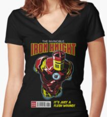The Iron Knight Women's Fitted V-Neck T-Shirt