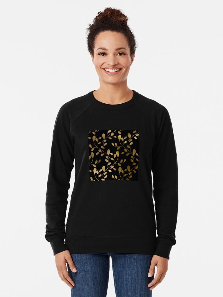 Alternative Ansicht von Von Art Deco inspirierte Goldblätter auf Goldreben Leichter Pullover