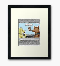 Doggie Air Freshener - doggone true Framed Print