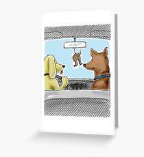 Doggie Air Freshener - doggone true Greeting Card