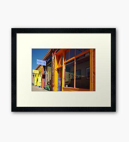 Down on Yankee Street - Silver City, NM Framed Print