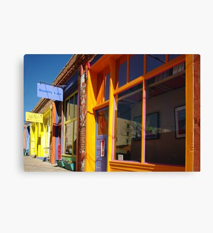 Down on Yankee Street - Silver City, NM Canvas Print