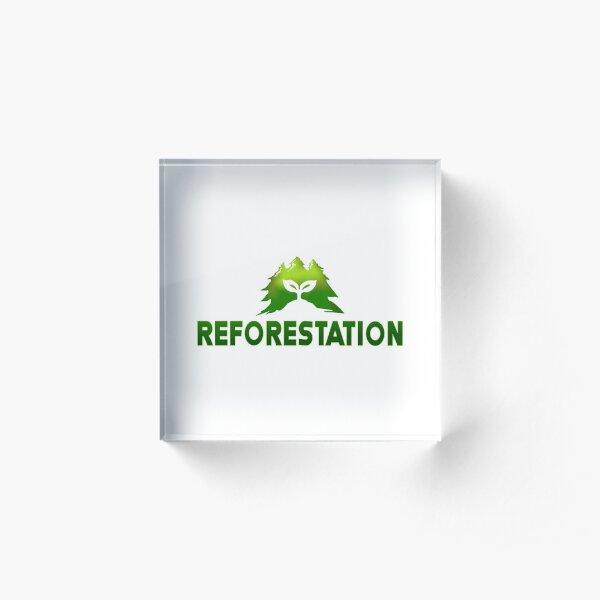 Julia Chang REFORESTATION Acrylic Block