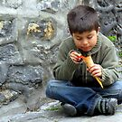 A Child and His Cone by Michael J Armijo