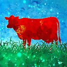Red Cow in Field by Anthony Ross