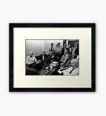 Obama In White House Situation Room Framed Print