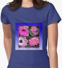 Pinkies Collage -  Pink Summer Flowers T-Shirt