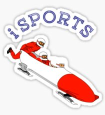 Sports, action, moving, Bobsleigh Sticker