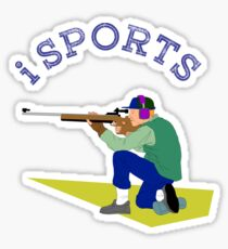 Sports, action, moving, shooting Sticker