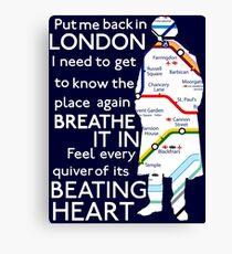 London Underground Map Sherlock Canvas Print