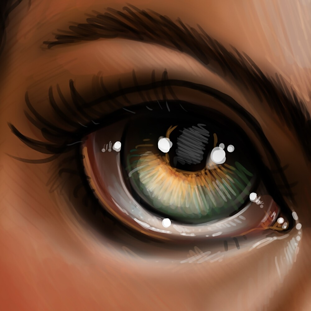 Hazel Eye Pop Surrealism Illustration by Kristin Frenzel