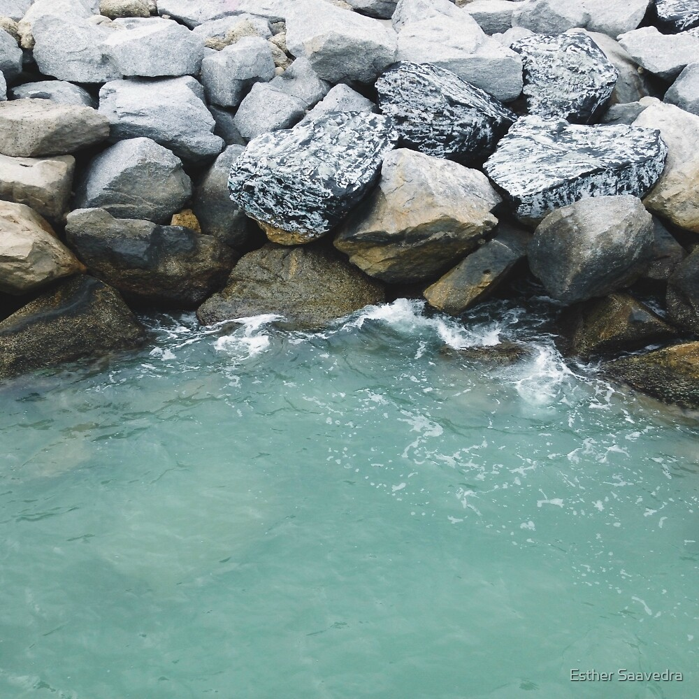 Pier Rocks by Esther Saavedra