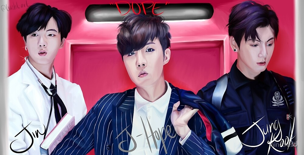 DOPE - Jin, J-Hope, and Jungkook by min-trash