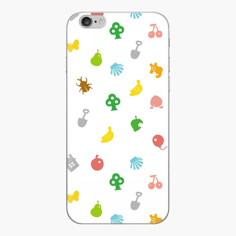 Animal Crossing Amiibo Karte - Muster iPhone Klebefolie