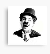 Portrait of Charlie Chaplin Canvas Print