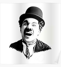 Portrait of Charlie Chaplin Poster