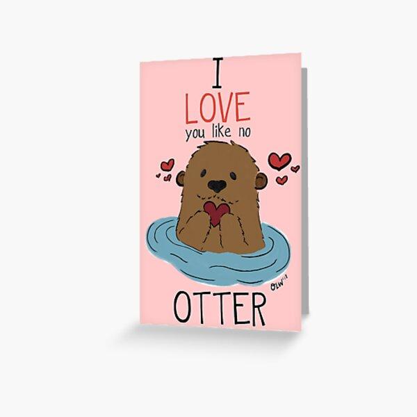 Christmas Card Animal Christmas Cards To My Otter Half Merry Christmas Card Happy Christmas Otter Card Greeting Cards Love