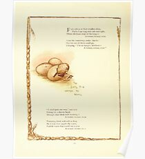 Old Proverbs with New Pictures Lizzie Laweson and Clara Mateaux 1881 0054 The Early Bird Catches the Worm Poster