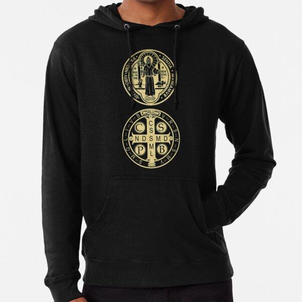 Saint Benedict Medal Mens Full-Zip Up Hoodie Jacket Pullover Sweatshirt