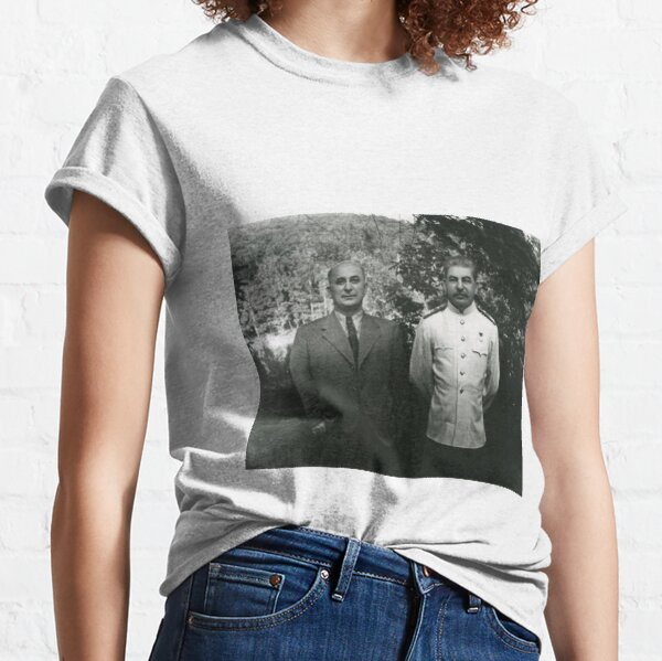 Stalin Beria Сталин Берия mature adult standing suit  Classic T-Shirt
