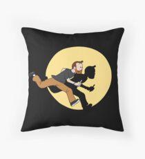 Tintin Style! Throw Pillow