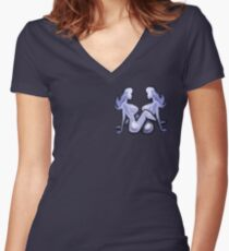 Mudflap BabeS Pocket Tee Women's Fitted V-Neck T-Shirt