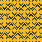 Flowing Arrows - Geometric Pattern (Yellow and Grey) by mariomartin