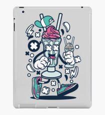 Ice cream sundae cartoon character - Fun illustrations that make you smile ! iPad Case/Skin