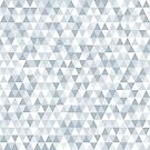 shades of ice gray triangles pattern by VrijFormaat