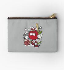 Pomegranate cartoon character - Funny Garnet- illustration character  Zipper Pouch