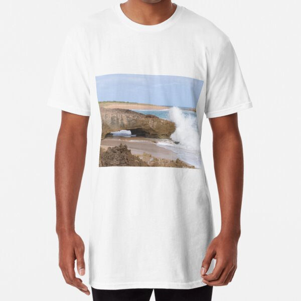 Natural Arch, Bowman Scenic Drive, Beachport. Limestone Coast.  Long T-Shirt